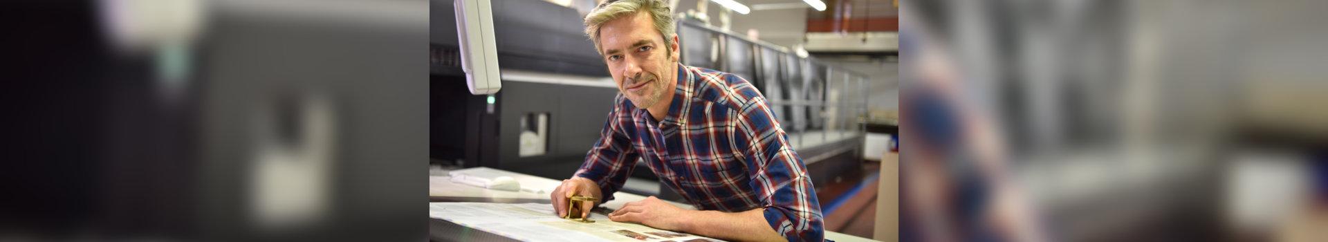Man working in printing industry